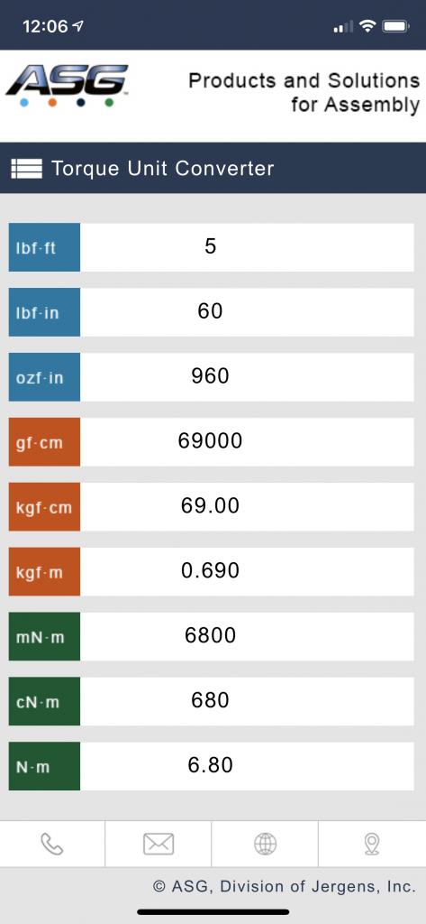 ASG Torque Converter App Screenshot