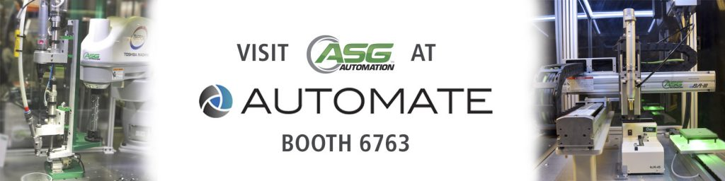 Visit ASG at Automate 2019!