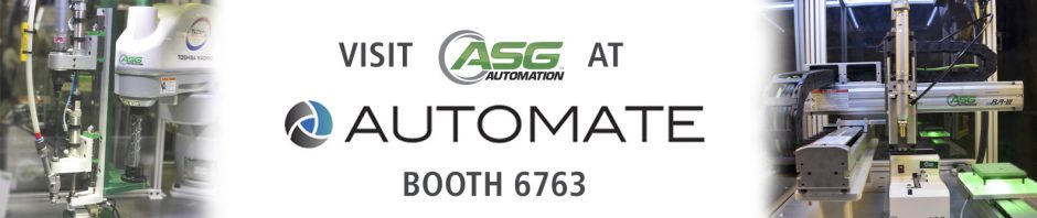 Visit ASG at Automate 2019