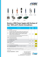 Receive a FREE Power Supply with Purchase of Any* HIOS and TL Electric Screwdrivers