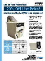 20% Off List Price of the EZ-6000 Tape Dispenser