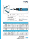 Torque Control Manual Screwdrivers